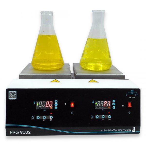 Agitador con calentamiento dos puestos PAG-900